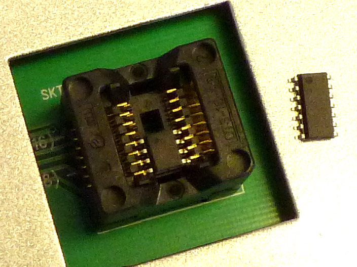 CX1016 SOIC-16 socket adapter